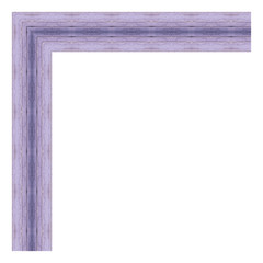 Purple wooden frame isolated on white background. Contemporary picture frames in high resolution vibrant colors. Wood photo frame. Wooden frame for paintings or photographs.