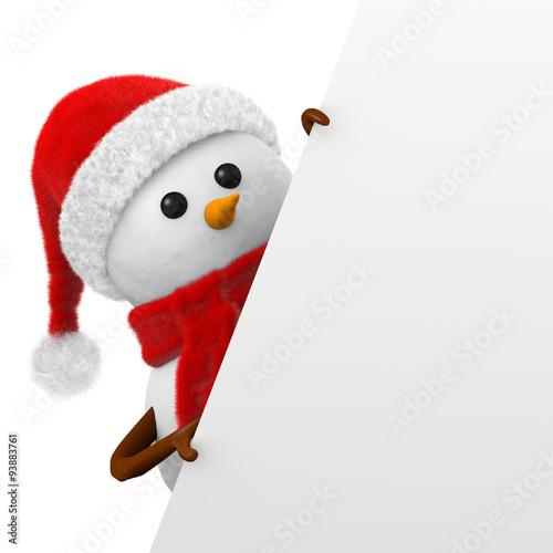 Pupazzo di neve natalizio con cartello inclinato immagini e fotografie royalty free su fotolia - Deco bonhomme de neige ...