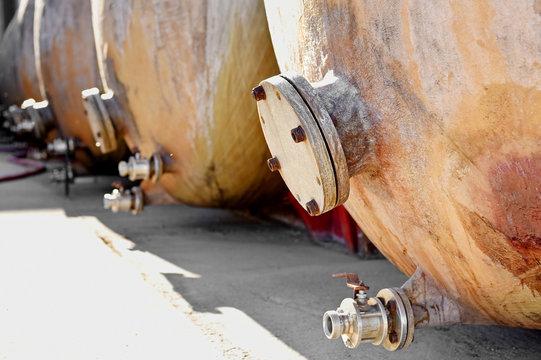 Industrial wine storage