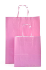 Pink gift paper bags