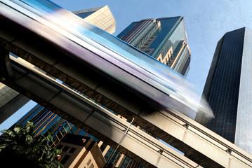 Skytrain in Kuala Lumpur Transportation Built Structure Concept