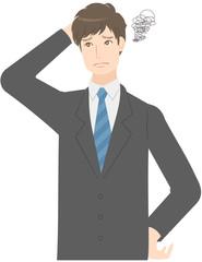 男性 スーツ 表情