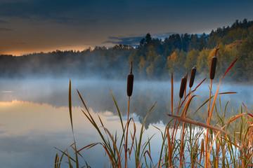 Obraz Jesienne Jezioro  - fototapety do salonu