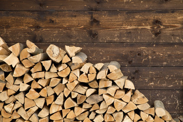 Printed kitchen splashbacks Firewood texture Firewood