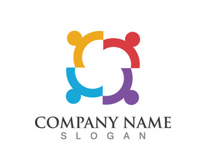community people work symbol logo