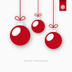 Red paper christmas balls ornaments