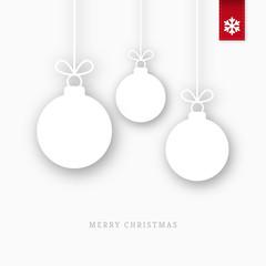 White paper christmas balls ornaments