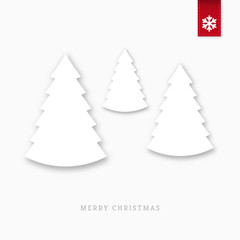 White paper christmas trees