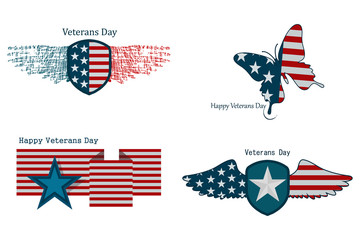 Illustration on the day of veteran in America