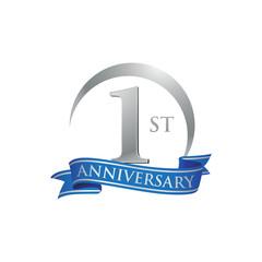 1st anniversary ring logo blue ribbon