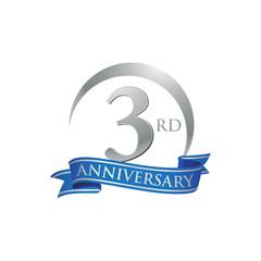 3rd anniversary ring logo blue ribbon