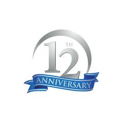 12th anniversary ring logo blue ribbon