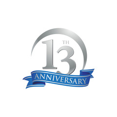 13th anniversary ring logo blue ribbon