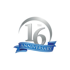16th anniversary ring logo blue ribbon