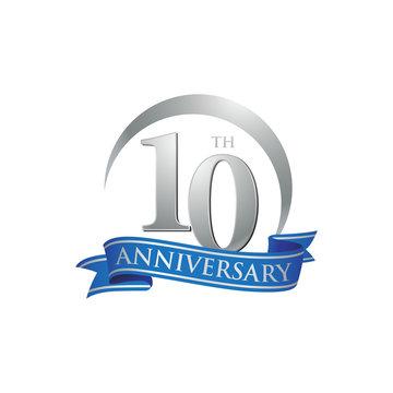 10th anniversary ring logo blue ribbon