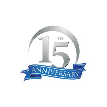 15th anniversary ring logo blue ribbon