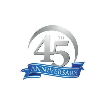 45th anniversary ring logo blue ribbon