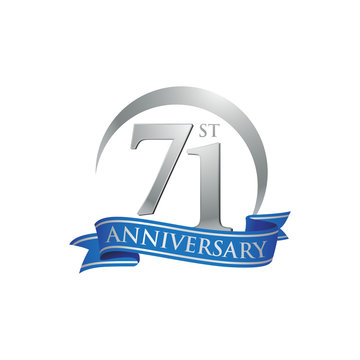 71st anniversary ring logo blue ribbon