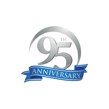 95th anniversary ring logo blue ribbon