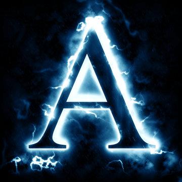 Lightning letter A