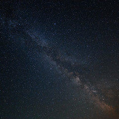 Milky Way Galaxy in the background of the brightest stars of the