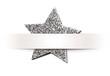 Papier Banderole mit silbernem Glitter Stern