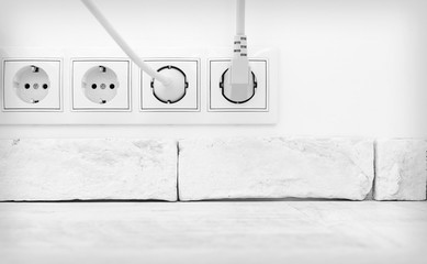 Electric plugs in interior
