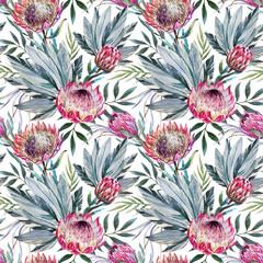Raster tropical protea pattern