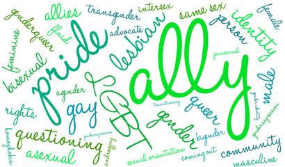 Ally LGBT Word Cloud