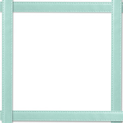 leather picture frame with  isolated on white background