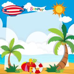 Summer time on the beach