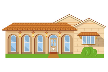 New house illustration