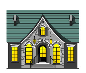 Nice house illustration
