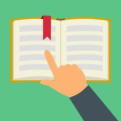 Reading book flat symbol