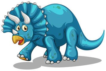 Blue dinosaur with horns