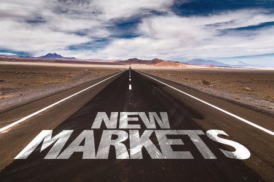 New Markets written on desert road