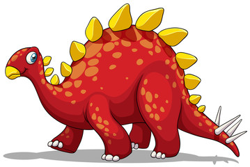 Red dinosaur with spikes tail
