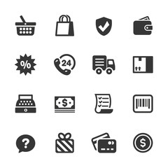 Shopping Icons, Mono Series
