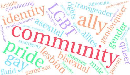 Community LGBT Word Cloud
