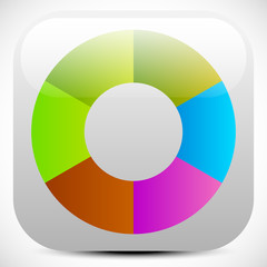 Colorful icon, color wheel, color palette graphics. editable vec