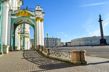Winter Palace in St. Petersburg, Russia.