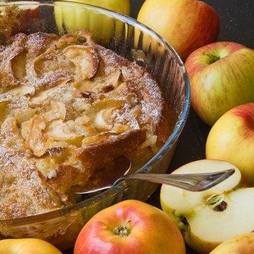 Homemade apple cobbler