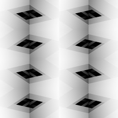 Abstract grayscale, black and white geometric pattern. editable