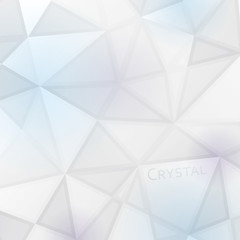 Vector White Crystal Background