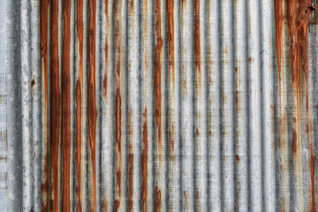 rusty corrugated iron metal texture and background