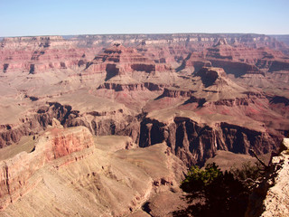 Rocky landscape in Grand Canyon, Arizona in southwestern United States