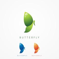 Butterfly Logo Illustration - Vector