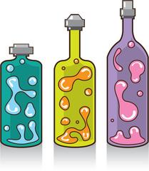Lava Bottles. improvised Lamps.