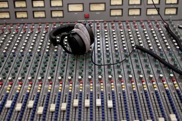 Instrument panel at a recording studio