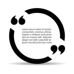 Text quote circle